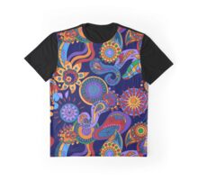 Ornamental abstract floral elements seamless pattern Graphic T-Shirt