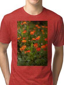 orange flora (2) Tri-blend T-Shirt