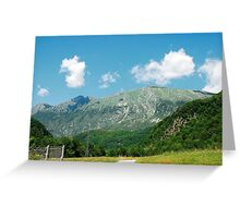 Scenery Near Kobarid Greeting Card
