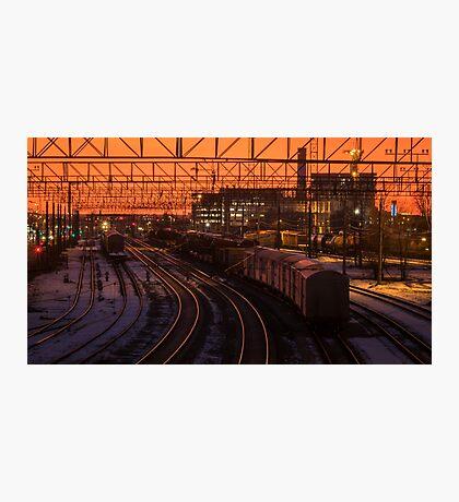 Train tracks Photographic Print