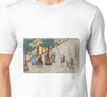 January - Itcho Hanabusa - 1830 - woodcut Unisex T-Shirt