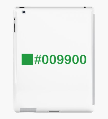 Colour Green #009900 iPad Case/Skin