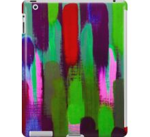 Red Green Abstract Brush Strokes Vertical Lines iPad Case/Skin