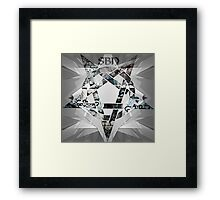 Graffiti Pentagram Framed Print