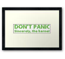 Kernel panic Framed Print