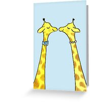 Happy Giraffe Couple Greeting Card