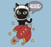 Space Cat - Houston we have a problem Kids Tee
