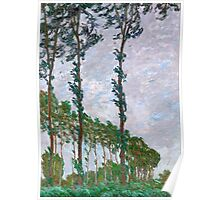 1891-Claude Monet-Wind Effect, Series of The Poplars-74 x 105 Poster