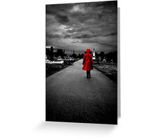Red Coat Child Greeting Card