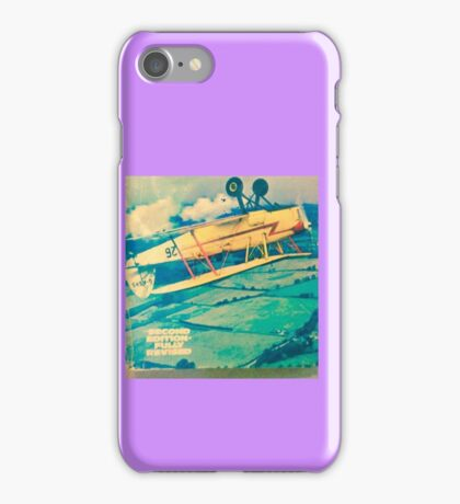 Biplane flying seat belt test iPhone Case/Skin