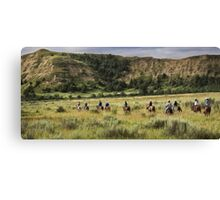 Riding the Trail - Theodore Roosevelt National Park Canvas Print