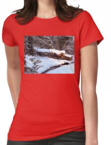 SNOW SCENE 9 Womens Fitted T-Shirt