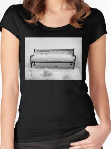 SNOW SCENE 8 Women's Fitted Scoop T-Shirt