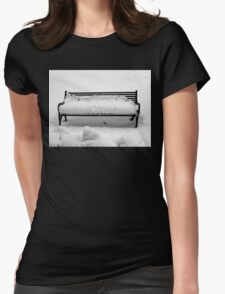 SNOW SCENE 8 Womens Fitted T-Shirt