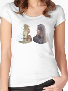 Person of Interest - Shaw & Root -  Face to Face Women's Fitted Scoop T-Shirt