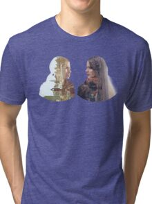 Person of Interest - Shaw & Root -  Face to Face Tri-blend T-Shirt