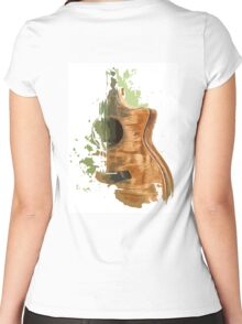 Taylor acoustic guitar Women's Fitted Scoop T-Shirt