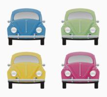 VW Beetles  One Piece - Short Sleeve