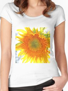 Sunflower20150815 Women's Fitted Scoop T-Shirt