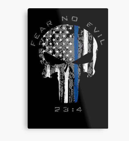 Punisher - Blue Line (Fear No Evil) Metal Print