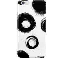 Hand painted ink circles with rough edges iPhone Case/Skin