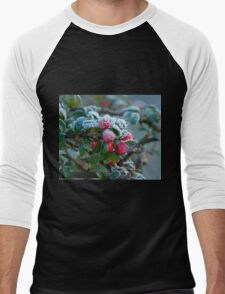 Winter Berries and Frost Men's Baseball ¾ T-Shirt