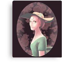 Pearl Portrait Canvas Print