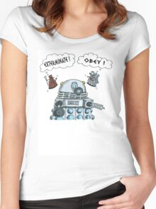 The Inner Workings of the Dalek Mind Women's Fitted Scoop T-Shirt