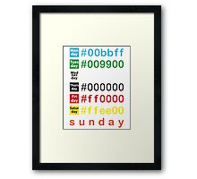 Colors week Framed Print