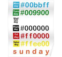 Colors week Poster