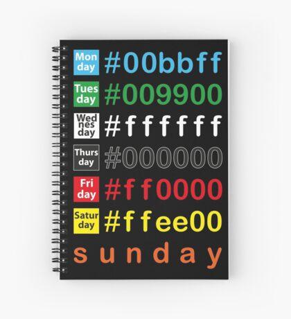 Colors week Spiral Notebook