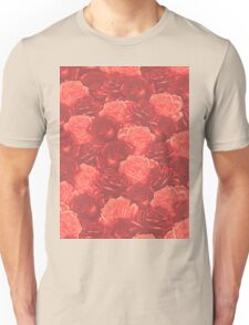 Stop and Smell the Roses RETRO RED Unisex T-Shirt