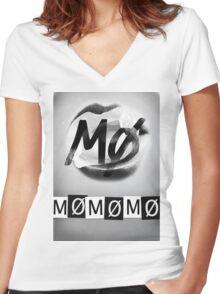 MØMØMØMØ Women's Fitted V-Neck T-Shirt