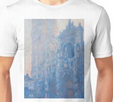 1894-Claude Monet-Rouen Cathedral Façade and Tour d'Albane (Morning Effect)-74 x 106 Unisex T-Shirt