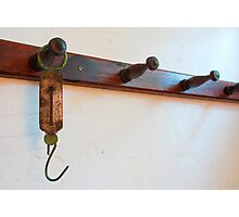 Antique Meat Scale Hook Photographic Print