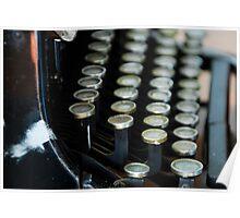 Antique Typewriter Poster
