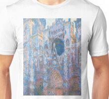 1894-Claude Monet-Rouen Cathedral, West Façade-65 x 100 Unisex T-Shirt