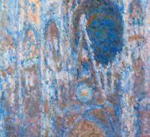 1894-Claude Monet-Rouen Cathedral, West Façade-65 x 100 Sticker