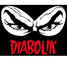 Diabolik eyes comic hero, with name Photographic Print