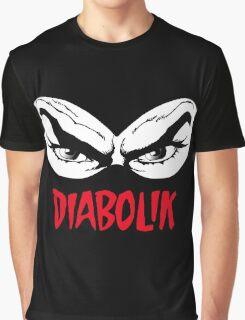 Diabolik eyes comic hero, with name Graphic T-Shirt