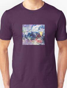 Gold Triangle - Original Wall Modern Abstract Art Painting Unisex T-Shirt