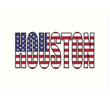 Houston. Art Print