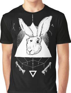 Lunar Hare Ink Illustration | Dark Version Graphic T-Shirt