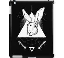 Lunar Hare Ink Illustration   Dark Version iPad Case/Skin