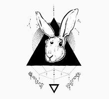 Lunar Hare Ink Illustration   Light Version Unisex T-Shirt