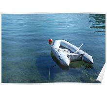 Boat in Bakar Harbour Poster