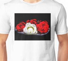 Red and White Roses Unisex T-Shirt