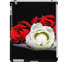 Red and White Roses iPad Case/Skin