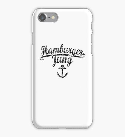 Hamburger Jung Anker Vintage Schwarz iPhone Case/Skin