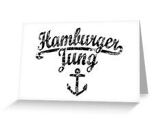 Hamburger Jung Anker Vintage Schwarz Greeting Card